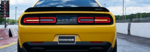 The back of a 2018 Dodge Challenger