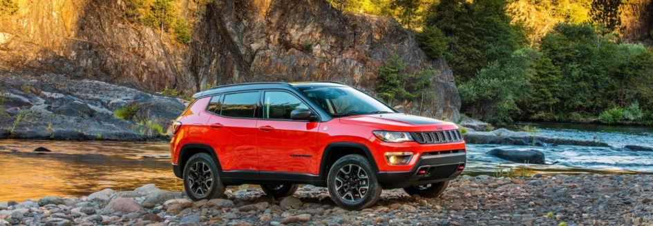 2018 Jeep Compass parked by a river