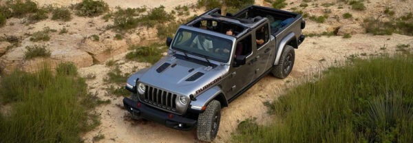 2020 Jeep Gladiator birds eye view