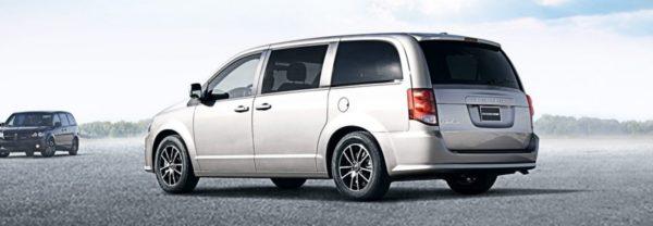 2019 Dodge Grand Caravan parked on the asphalt