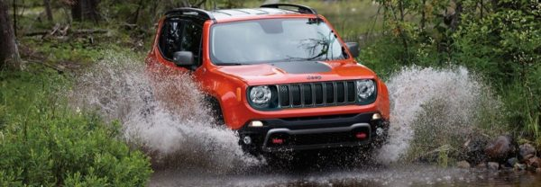 2019 Jeep Renegade red crossover